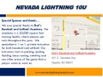 nevada lightning 10u4