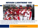 nevada lightning 10u6