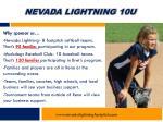 nevada lightning 10u7