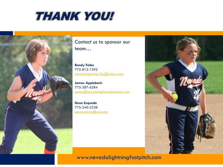 Contact us to sponsor our team…