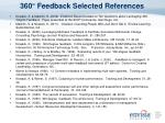 360 feedback selected references