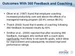 outcomes with 360 feedback and coaching