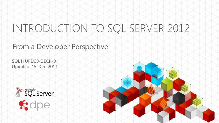 introduction to sql server 2012 n.