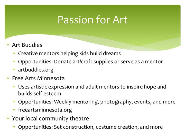 Passion for Art