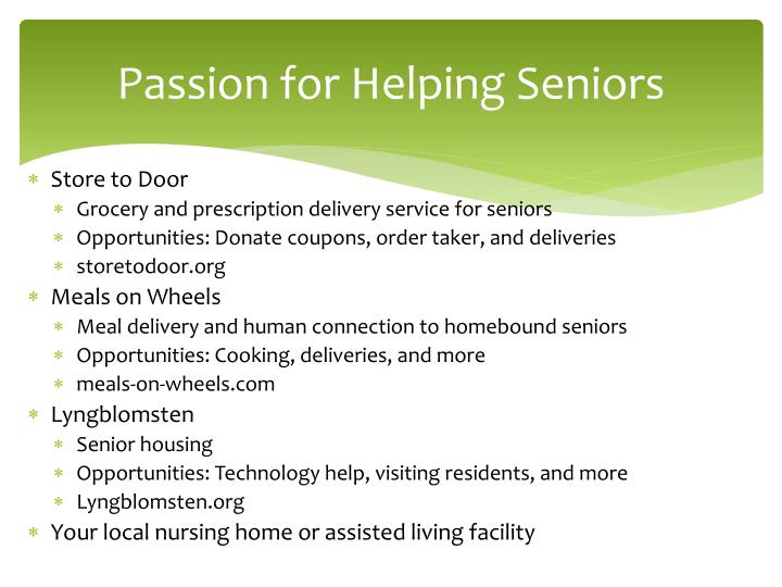 Passion for Helping Seniors
