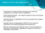 what is next for my aged care1