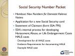 social security number packet