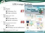 lte 4 stage testbeds