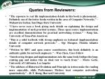 quotes from reviewers