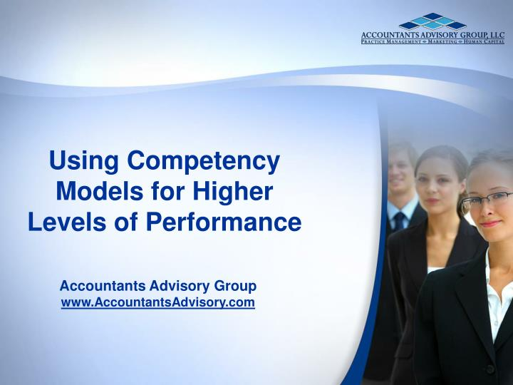 using competency models for higher levels of performance n.