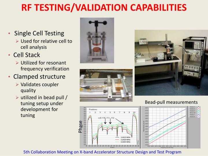 RF TESTING/VALIDATION CAPABILITIES