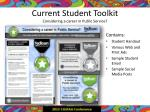 current student toolkit considering a career in public service