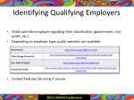 identifying qualifying employers