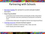 partnering with schools
