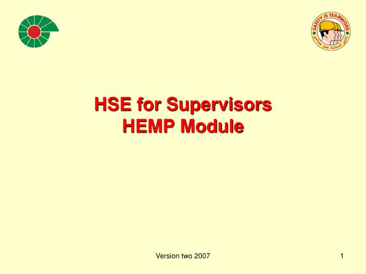 hse for supervisors hemp module n.