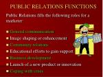 public relations functions