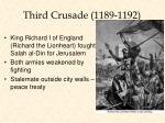 third crusade 1189 1192