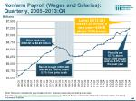 nonfarm payroll wages and salaries quarterly 2005 2013 q4