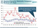 wc medical severity generally outpaces the medical cpi rate