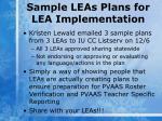 sample leas plans for lea implementation