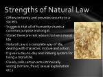 strengths of natural law