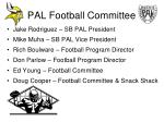 pal football committee