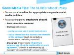 social media tips the nlrb s model policy