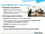 social media tips usage policies
