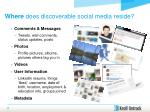 where does discoverable social media reside