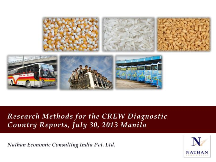 research methods for the crew diagnostic country reports july 30 2013 manila n.