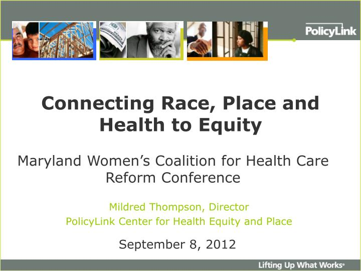 connecting race place and health to equity n.