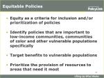 equitable policies