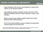 health of women in maryland
