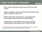 health of women in maryland1