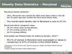 obesity data statistics maryland