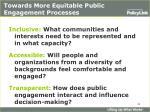 towards more equitable public engagement processes