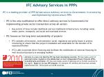 ifc advisory services in ppps