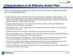 characteristics of an effective action plan