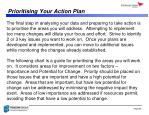prioritising your action plan