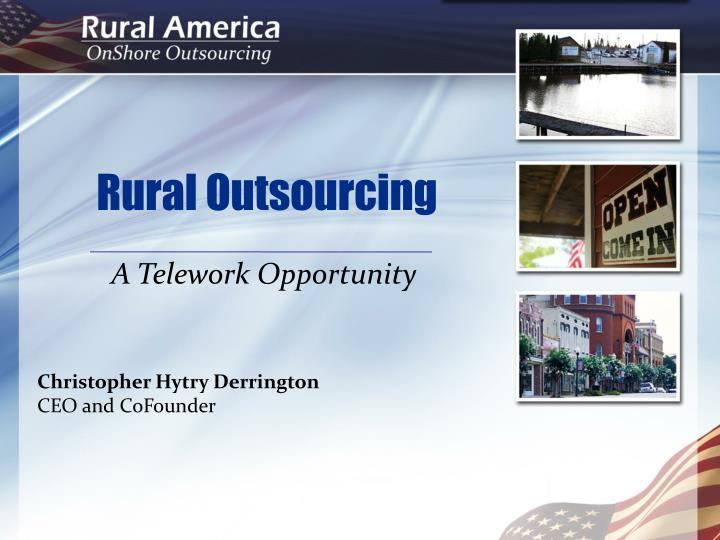 rural outsourcing n.