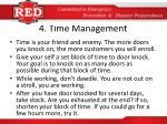 4 time management