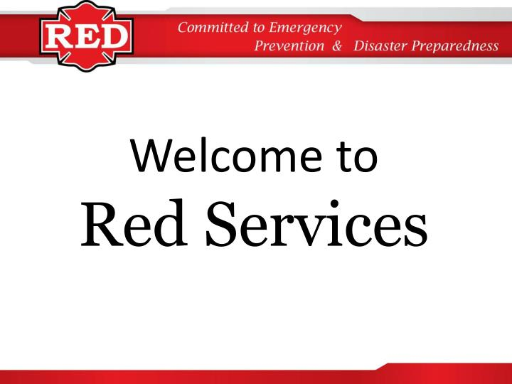 welcome to red services n.