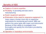 benefits of kbs1