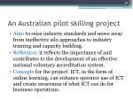 an australian pilot skilling project