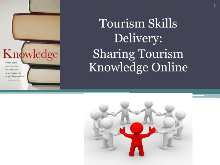 tourism skills delivery sharing tourism knowledge online n.
