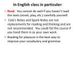 in english class in particular