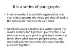it is a series of paragraphs