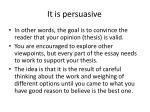 it is persuasive