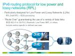 ipv6 routing protocol for low power and lossy networks rpl