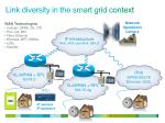 link diversity in the smart grid context
